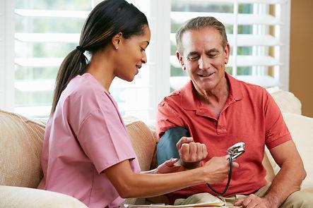 Nurse with older man