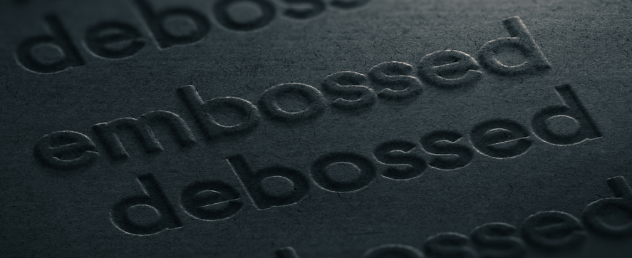emboss and deboss for emboss and deboss