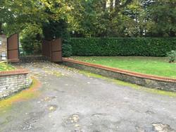 sloped tarmac drive