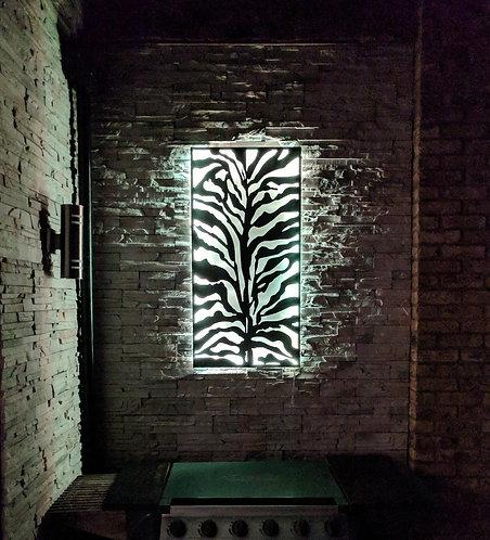 Zebra Print LED Wall Art