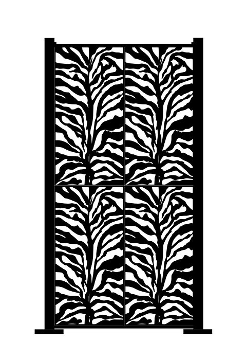 Full Height Zebra Print - 1400 x 2500mm
