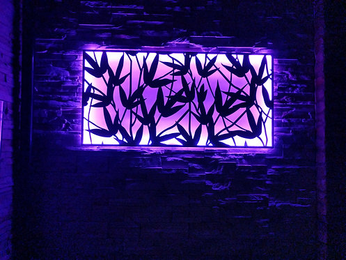 Bamboo Shoots LED Wall Art