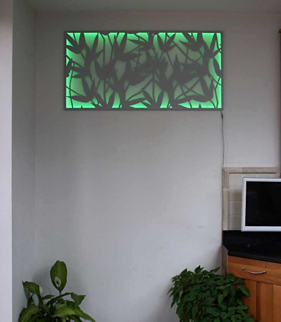 Bamboo Wall Art - Green