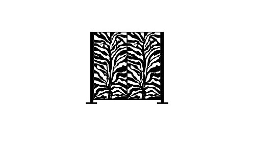 Half Height Zebra Print - 1280 x 1250 x 40mm