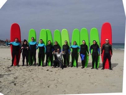 Myggen Surf School holding a surf lessons in Stavanger