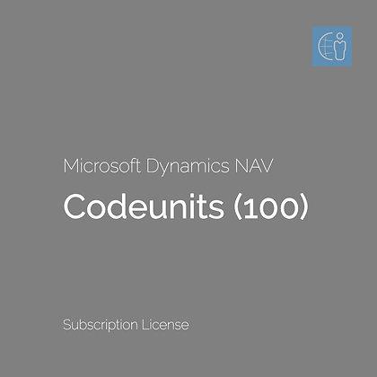 Dyn365 BC Codeunits (100) (Subscription)