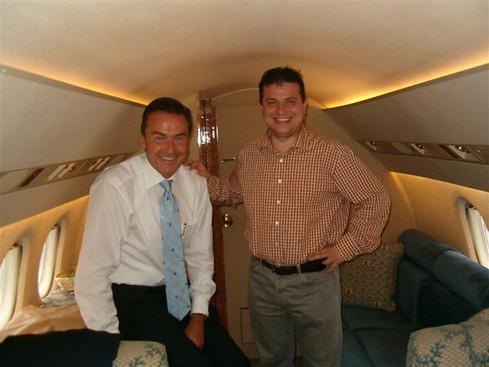 On The Motorola Private Jet