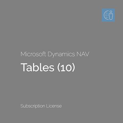 Dyn365 BC Tables (10) (Subscription)