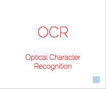 Оптичко препознавање на знаци (OCR)