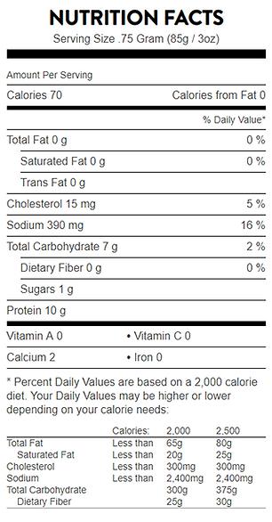Nutrition Info_Wild AK Pollock Skillet C