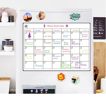 Dry-Erase Magnetic Calendar