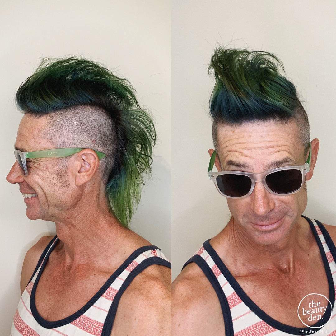 suz mens green color and mohawk.JPG