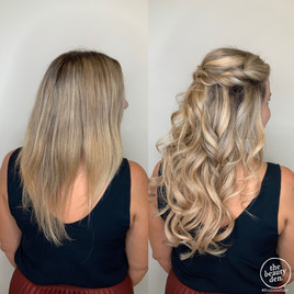 extensions applied cut and wedding trial