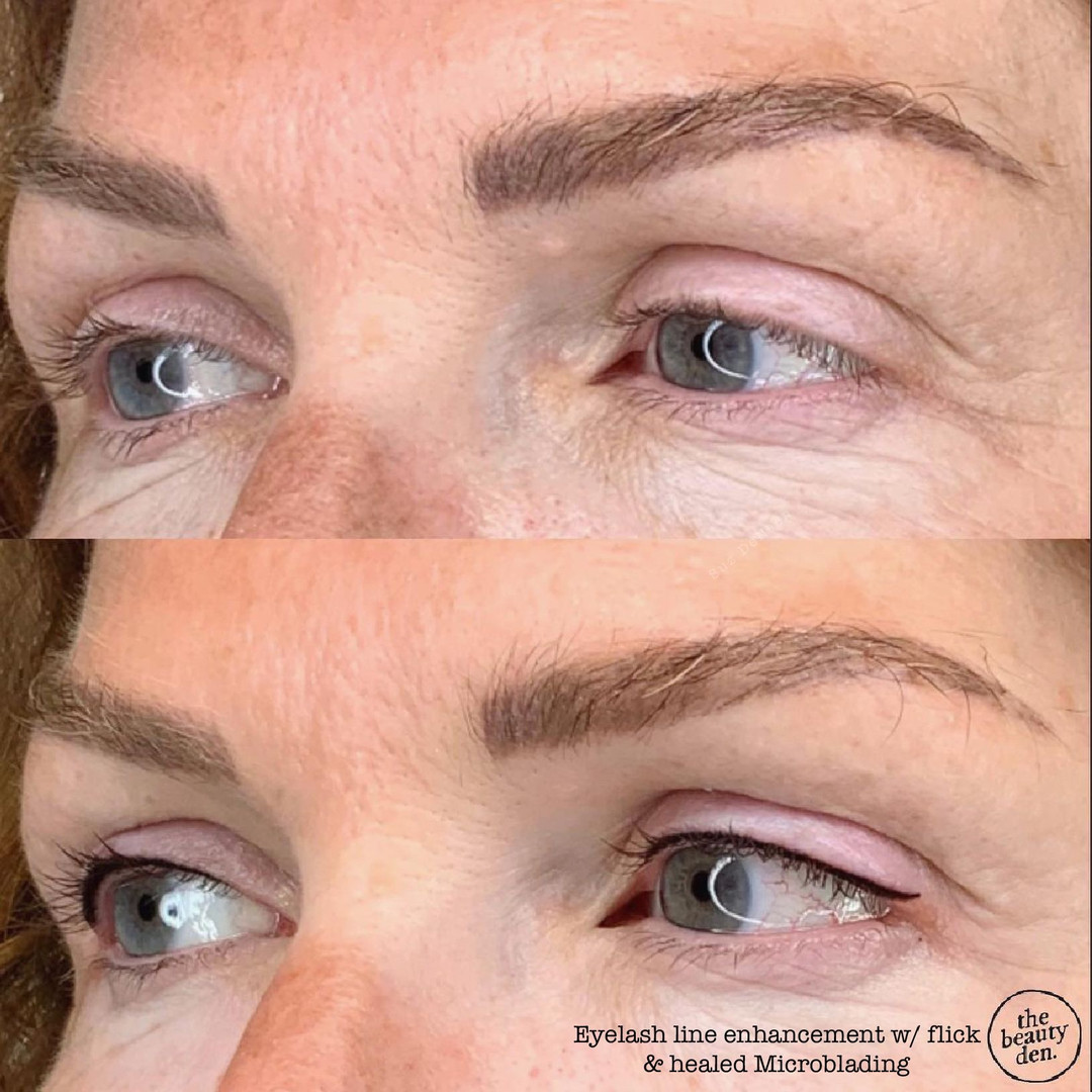 eyelash line enhancement w flick & heale