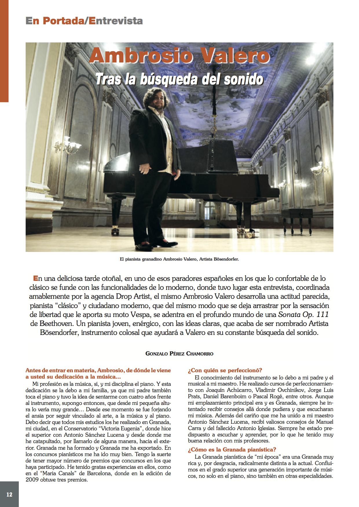 Entrevista en la Revista Ritmo