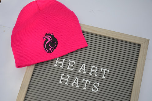 Knit Heart Hats