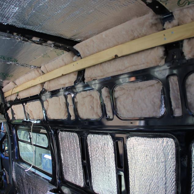 Insulation of van