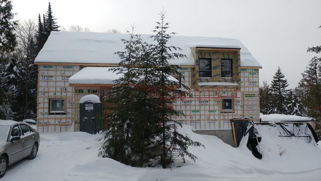 Nouvelle construction écologique à Val-David