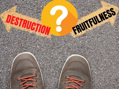 Choosing Our Path: Fruitfulness or Destruction