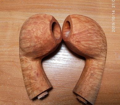 Pair of bend apple and bend egg