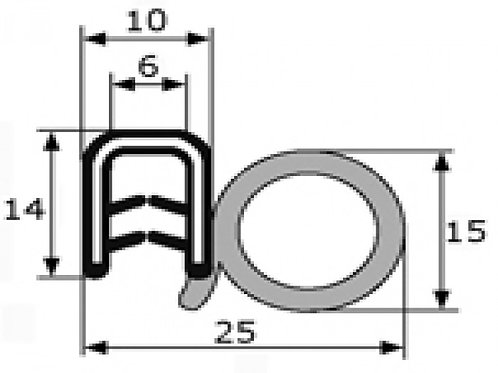 Universal door rubber seal