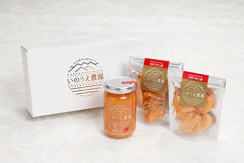 【ギフト】秋王コンフィチュール(1本)とセミドライフルーツ(2個)セット