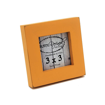 """3x3 1"""" Gallery Picture Frame - Mango"""