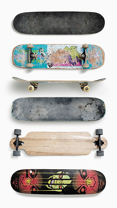 vier Skateboards