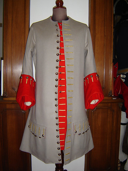 "Officer's ""justaucorps"" or coat 1695-1715"