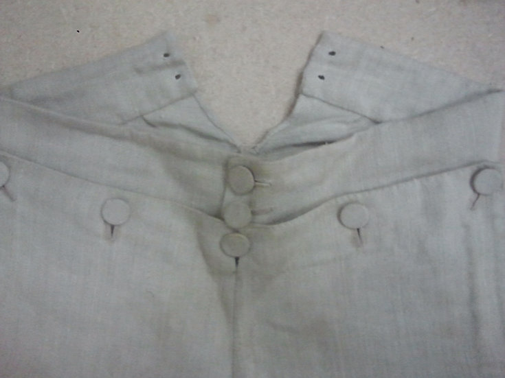 Linen or duck trousers