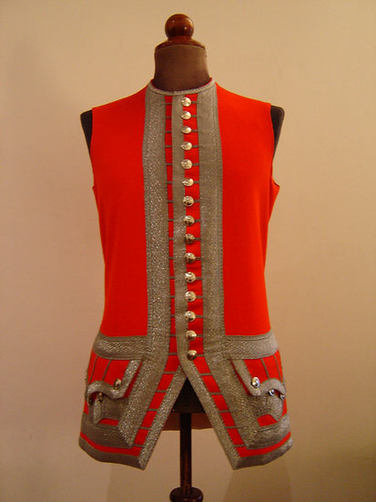Swiss & French Guard officer's waistcoat 1735-1762