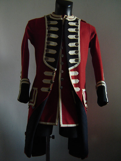 British Foot regiment coat c.1742-1768