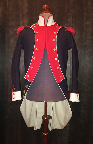 "French Garde Nationale or infantry ""habit"" 1786-1799"