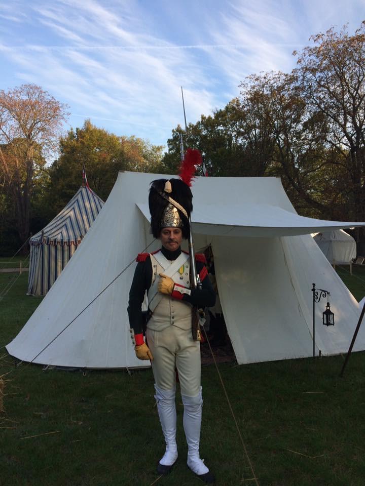 Italian Royal Guard grenadier on guard duty