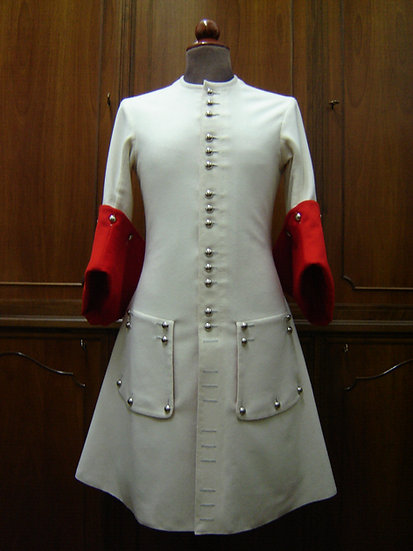 "Officer's coat or ""justaucorps"" c. 1690"