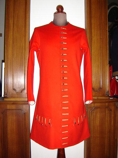 officer's sleeved waistcoat or vest 1680-1715