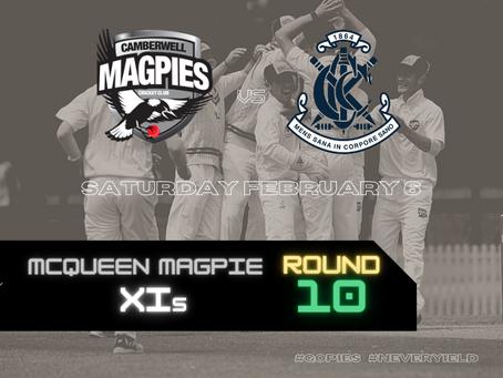 McQueen Magpie XIs - Round 10 vs Carlton