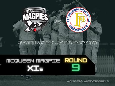 McQueen Magpie XIs - Round 9 vs Frankston Peninsula