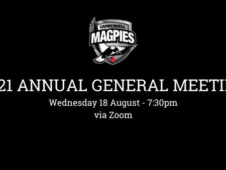 Notice of the Annual General Meeting of the Camberwell Magpies Cricket Club Inc.