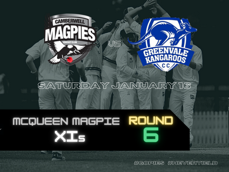 McQueen Magpie XIs - Round 6 vs Greenvale Kangaroos
