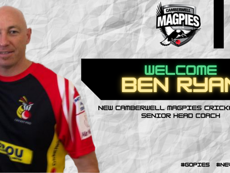 Ben Ryan appointed new Camberwell Magpies Head Coach