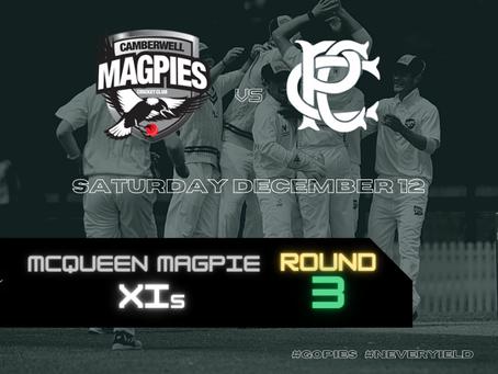 McQueen Magpie XIs - Round 3 vs Prahran