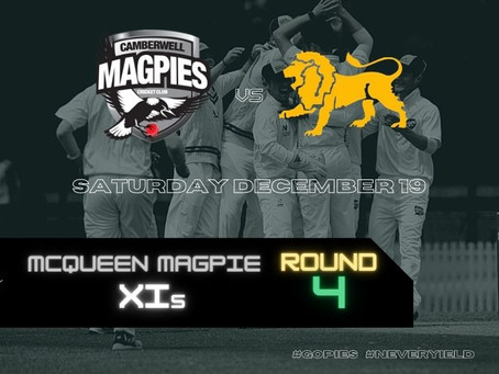 McQueen Magpie XIs - Round 4 vs Fitzroy Doncaster
