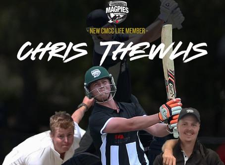 Chris Thewlis awarded CMCC Life Membership