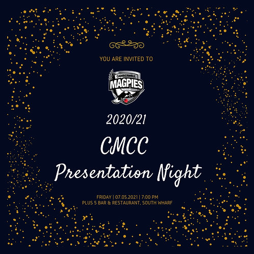 2020/21 CMCC Presentation Night - Parent + Under 18