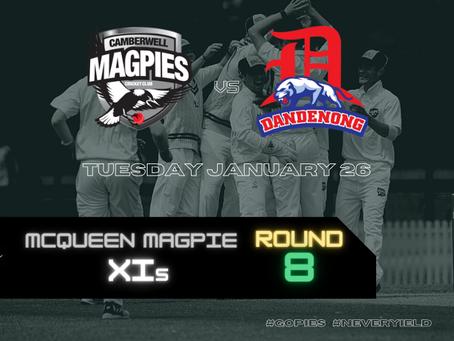 McQueen Magpie XIs - Round 8 vs Dandenong