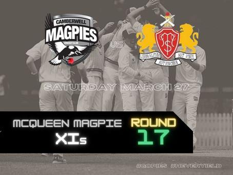 McQueen Magpie XIs - Round 17 vs Casey-South Melbourne