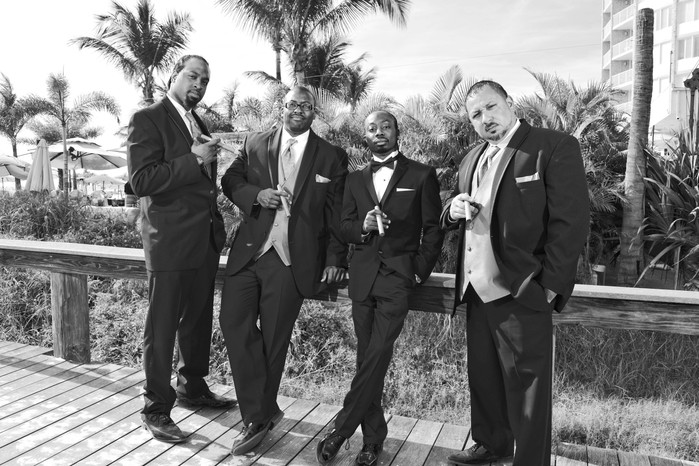 Groomsmen at the Grand Plaza