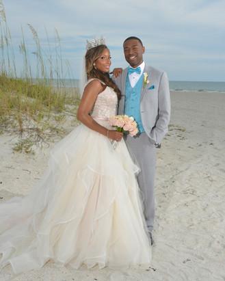 Bride and Groom on St Pete Beach