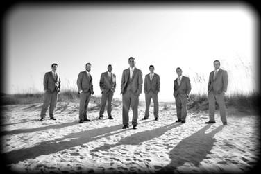 Grooomsmen on the beach